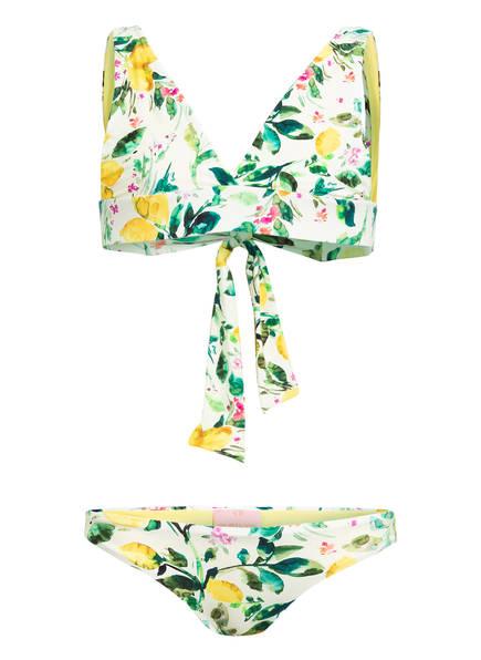 PILYQ Triangel-Bikini  LEMONS, Farbe: GELB/ GRÜN (Bild 1)
