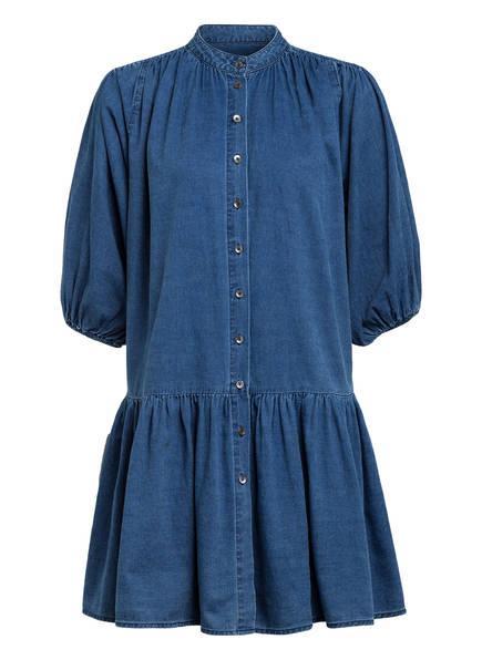 CLOSED Hemdblusenkleid LINJA mit 3/4-Arm, Farbe: BLAU (Bild 1)