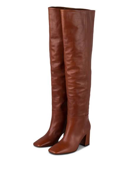 MARC CAIN Overknee-Stiefel, Farbe: 631 maroon (Bild 1)