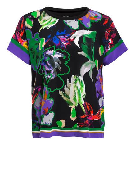 MARC CAIN Blusenshirt im Materialmix mit Seide, Farbe: 900 BLACK (Bild 1)