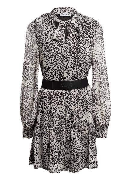 LIU JO Hemdblusenkleid mit Schluppe, Farbe: CREME/ SCHWARZ (Bild 1)