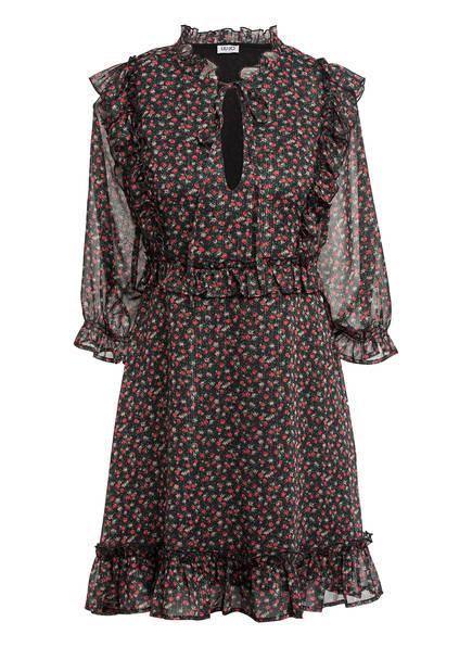LIU JO Kleid mit 3/4-Arm und Glitzergarn, Farbe: SCHWARZ/ ROT/ GRÜN (Bild 1)