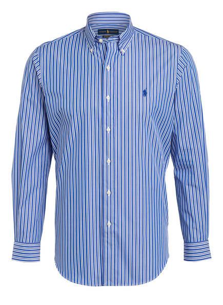 POLO RALPH LAUREN Hemd Custom Fit, Farbe: BLAU/ WEISS GESTREIFT (Bild 1)