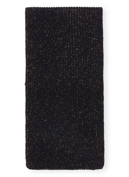 CLOSED Schal mit Glitzergarn , Farbe: DUNKELBLAU/ GOLD (Bild 1)