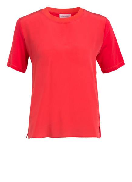 RENÉ LEZARD T-Shirt im Materialmix, Farbe: ROT (Bild 1)