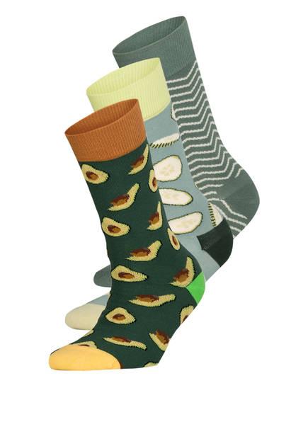 DillySocks 3er-Pack Socken HEALTHY GREENS , Farbe: MULTI MULTI (Bild 1)