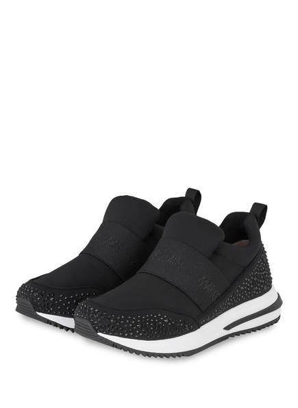 MARCCAIN Sneaker mit Schmucksteinbesatz, Farbe: 900 BLACK (Bild 1)