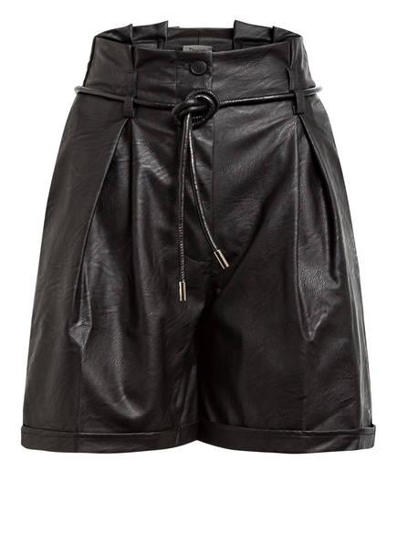 Dixie Paperbag-Shorts in Lederoptik, Farbe: SCHWARZ (Bild 1)