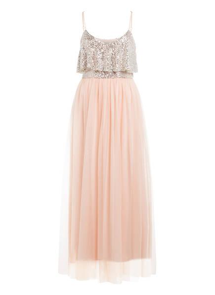 RINASCIMENTO Kleid mit Paillettenbesatz, Farbe: NUDE (Bild 1)