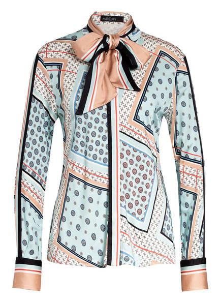 MARC CAIN Bluse mit abnehmbarer Schluppe, Farbe: HELLBLAU/ CREME/ ECRU (Bild 1)