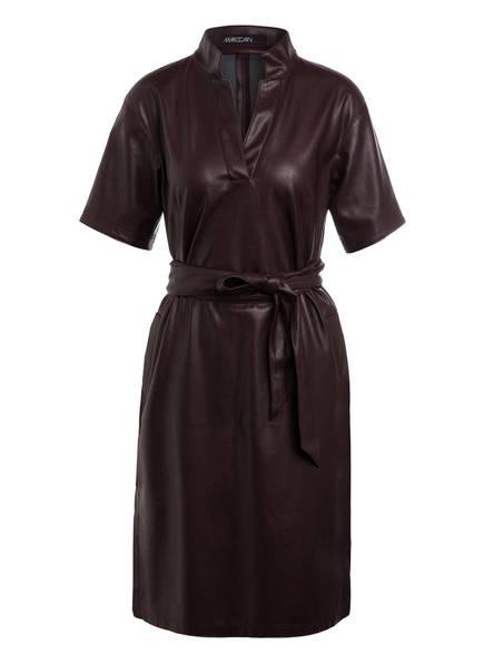 MARC CAIN Kleid in Lederoptik, Farbe: DUNKELLILA (Bild 1)