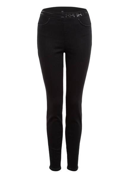 MARC CAIN Skinny Jeans mit Schmucksteinbesatz, Farbe: 900 BLACK (Bild 1)