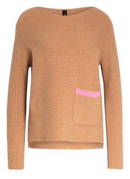 MARC CAIN Cashmer-Pullover , Farbe: CAMEL/ ROSA (Bild 1)