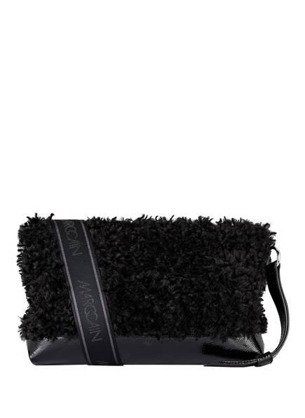 MARCCAIN Schultertasche mit Kunstfellbesatz , Farbe: 900 BLACK (Bild 1)