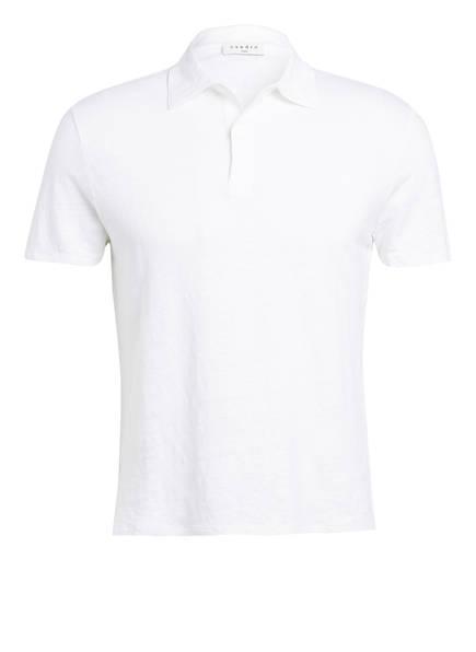 sandro Strick-Poloshirt aus Leinen, Farbe: WEISS (Bild 1)