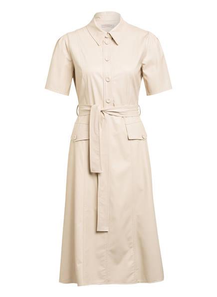 RINASCIMENTO Kleid in Lederoptik, Farbe: CREME (Bild 1)