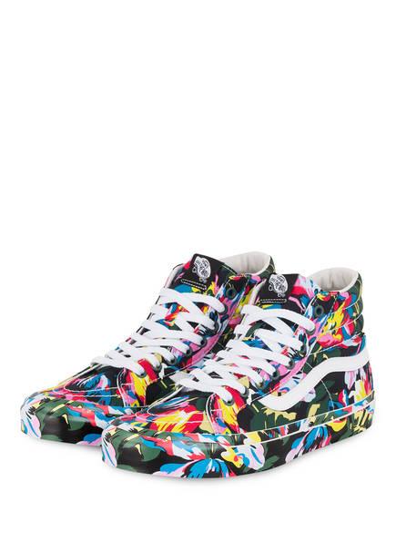 KENZO Hightop-Sneaker, Farbe: ROSA/ GELB/ DUNKELGRÜN (Bild 1)