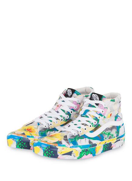 KENZO Hightop-Sneaker, Farbe: GRÜN/ BLAU/ GELB (Bild 1)