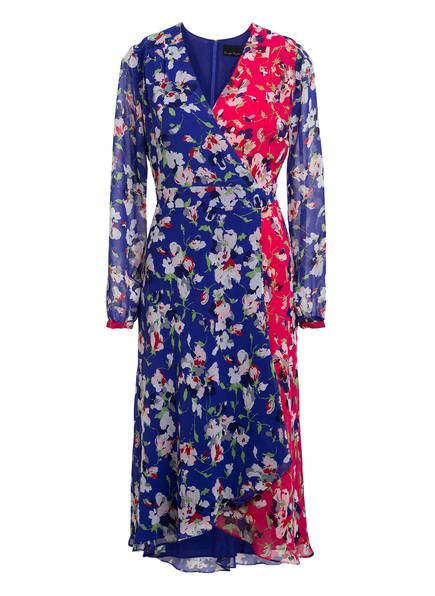 Phase Eight Kleid CLAUDETTE in Wickeloptik, Farbe: LILA/ WEISS/ PINK (Bild 1)