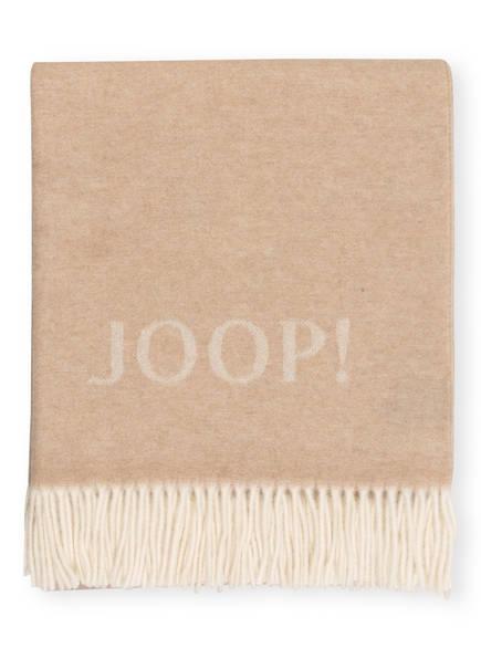 JOOP! Plaid SIGNATURE, Farbe: BEIGE/ CREME (Bild 1)
