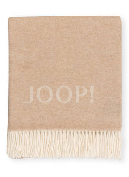 JOOP! Plaid FINE DOUBLEFACE, Farbe: BEIGE/ CREME (Bild 1)