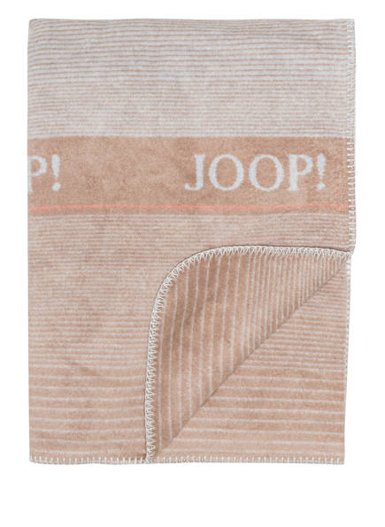 JOOP! Plaid FIT , Farbe: CREME/ BRAUN (Bild 1)