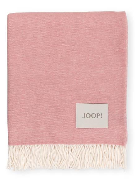 JOOP! Plaid SENSUAL DOUBLEFACE, Farbe: ROSÉ/ CREME (Bild 1)