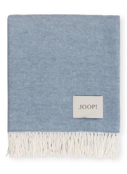 JOOP! Plaid SENSUAL DOUBLEFACE, Farbe: BLAUGRAU/ ECRU (Bild 1)