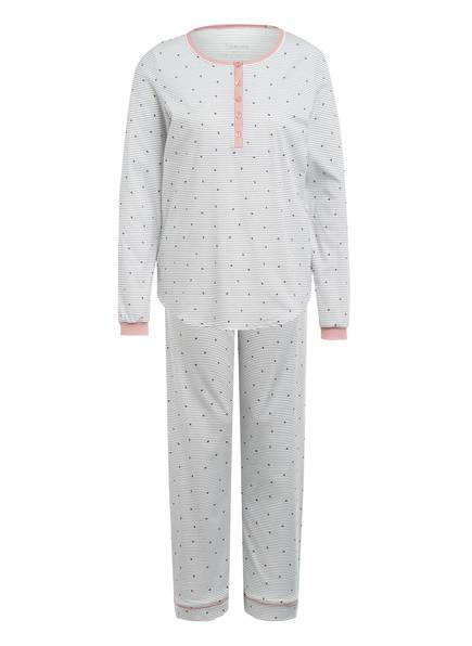 CALIDA Schlafanzug SWEET DREAMS , Farbe: WEISS/ DUNKELBLAU (Bild 1)