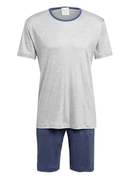 CALIDA Shorty-Schlafanzug 100% NATURE , Farbe: HELLGRAU/ BLAUGRAU (Bild 1)