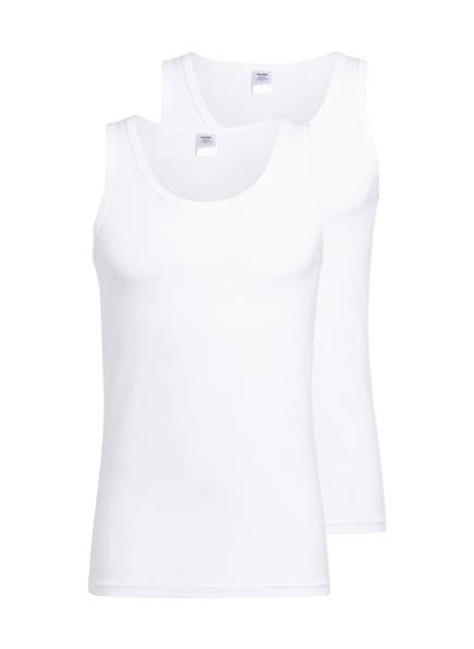 CALIDA 2er-Pack Unterhemden NATURAL BENEFIT, Farbe: WEISS (Bild 1)