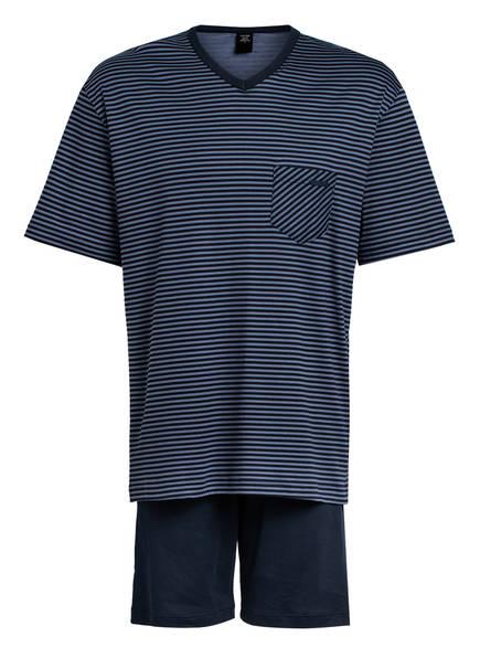 CALIDA Shorty-Schlafanzug RELAX STREAMLINE , Farbe: DUNKELBLAU/ BLAUGRAU (Bild 1)