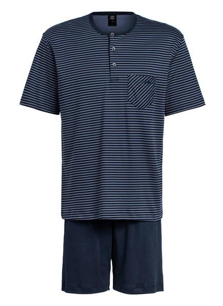 CALIDA Shorty-Schlafanzug RELAX STREAMLINE BASIC , Farbe: DUNKELBLAU/ BLAUGRAU (Bild 1)