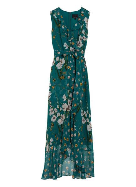 Phase Eight Kleid SOFIA mit Volantbesatz, Farbe: DUNKELGRÜN/ WEISS/ ORANGE (Bild 1)