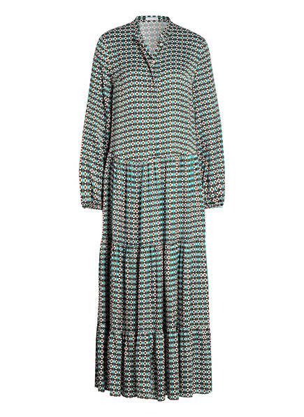 ROBERT FRIEDMAN Kleid mit Volantbesatz, Farbe: WEISS/ PETROL/ SCHWARZ (Bild 1)