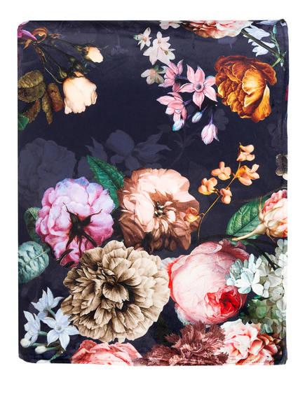 ESSENZA Plaid FLEUR, Farbe: DUNKELBLAU (Bild 1)