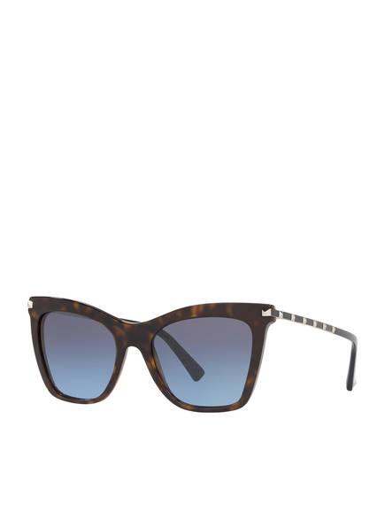 VALENTINO Sonnenbrille VA4061, Farbe: 50028F - HAVANA/ BLAU (Bild 1)