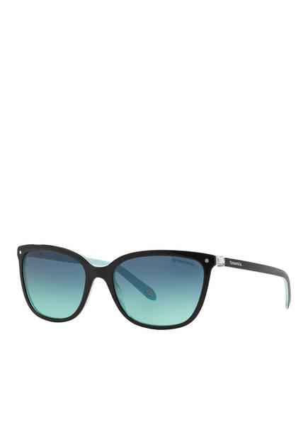 TIFFANY & Co. Sunglasses Sonnenbrille TF4105 mit Schmucksteinbesatz, Farbe: 81939S - SCHWARZ/ BLAU VERLAUF (Bild 1)