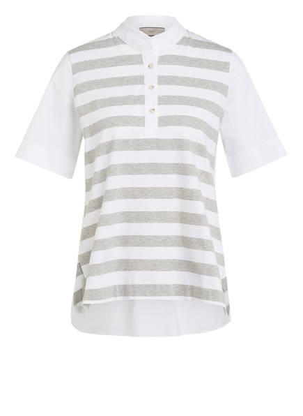 SPOON GOLF Poloshirt, Farbe: WEISS/ GRAU MELIERT (Bild 1)