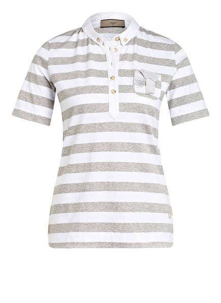 SPOON GOLF Jersey-Poloshirt, Farbe: WEISS/ GRAU (Bild 1)