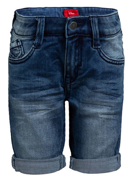 s.Oliver Jeans-Shorts , Farbe: 56Z4 BLUE DENIM STRETCH (Bild 1)