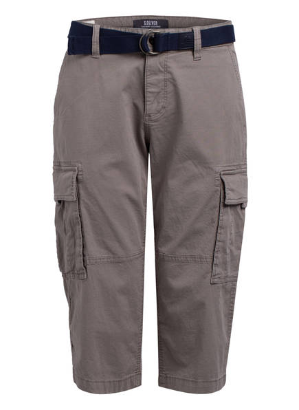 S.Oliver Cargo-Shorts Loose Fit grau