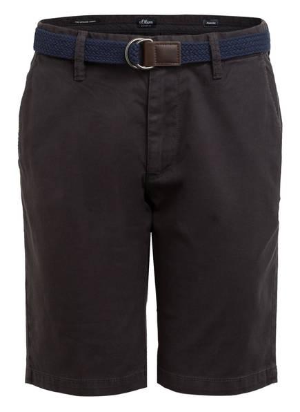 S.Oliver Chino-Shorts Austin Slim Fit schwarz