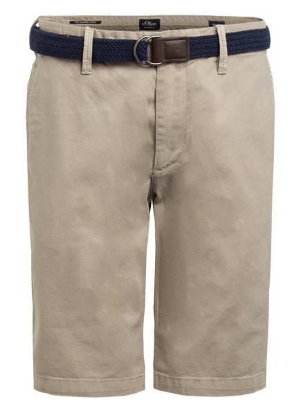 S.Oliver Chino-Shorts Austin Slim Fit beige