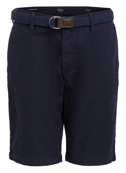 S.Oliver Chino-Shorts Austin Slim Fit blau