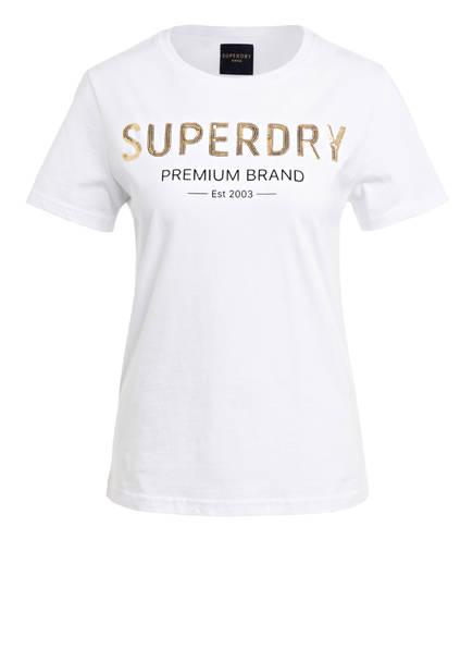 Superdry T-Shirt mit Paillettenbesatz, Farbe: WEISS (Bild 1)