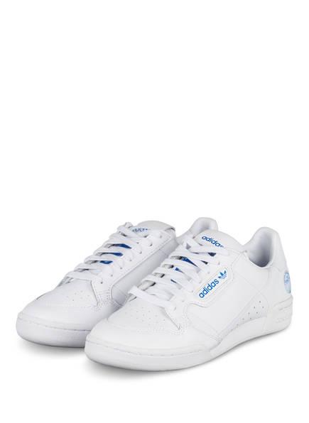 adidas Originals Sneaker CONTINENTAL 80, Farbe: WEISS/ BLAU (Bild 1)