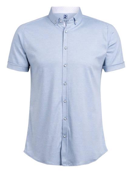 DESOTO Kurzarm-Hemd MODERN Slim Fit aus Jersey, Farbe: HELLBLAU (Bild 1)