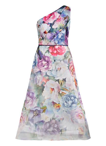 ADRIANNA PAPELL One-Shoulder-Kleid, Farbe: HELLBLAU/ ROSA/ GRÜN (Bild 1)