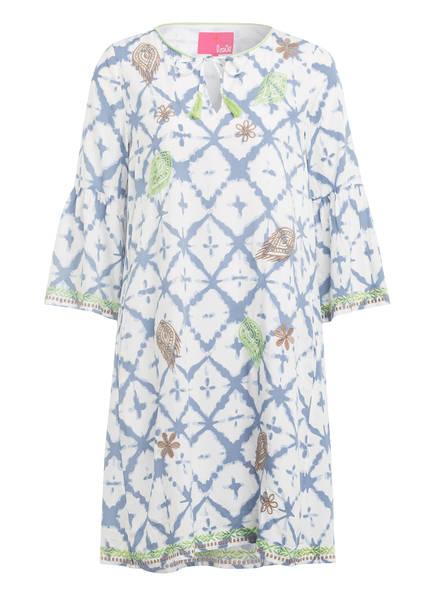 LIEBLINGSSTÜCK Kleid RAHEL mit 3/4-Arm , Farbe: WEISS/ BLAU/ GRÜN (Bild 1)